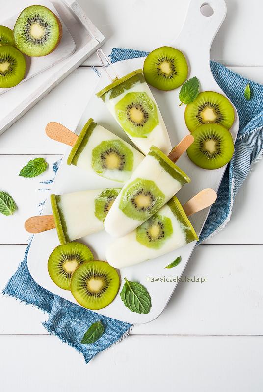 Lody jogurtowe z kiwi